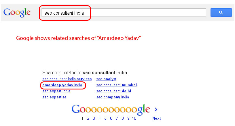 Amardeep Yadav in Google Search