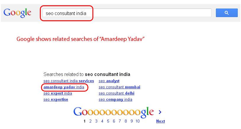 Amardeep Yadav in Google Search
